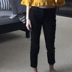 Gap black and yellow trousers